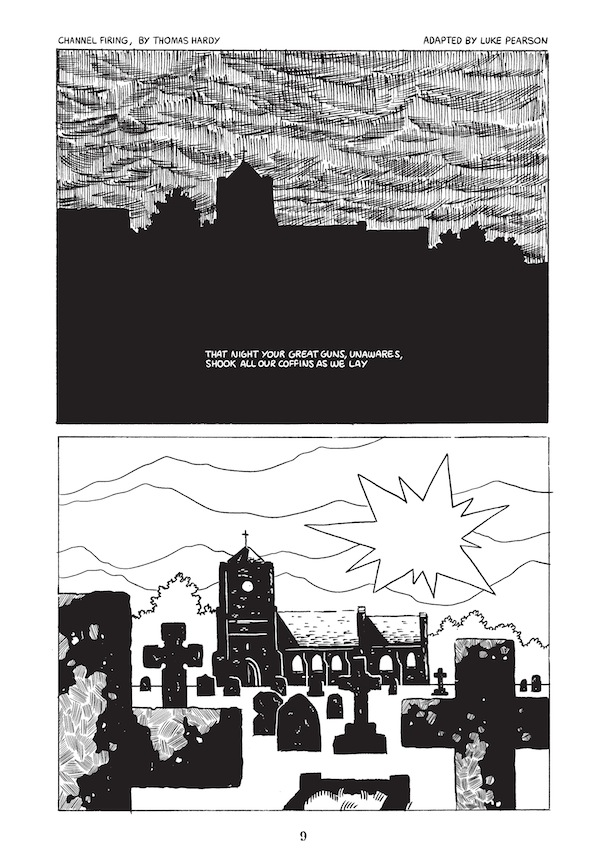 """""""Channel Firing"""" adapted by Luke Pearson - Sample Page"""