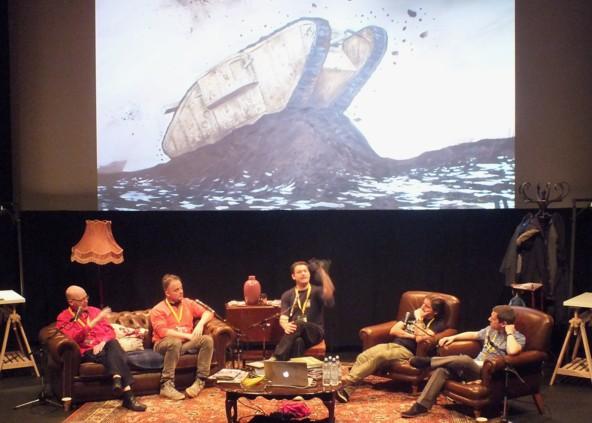 War Comics Panel - John Freeman, Ivan Petrous, Tim Pilcher, Charlie Adlard & Robbie Morrison