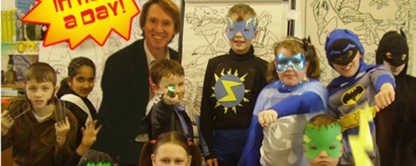 Kev entertains another happy bunch of aspiring comic creators.