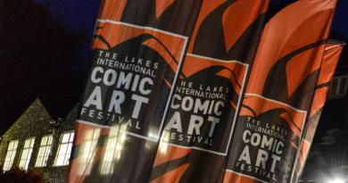 Lakes International Comic Art Festival out side the Brewery Arts Centre. Photo: Tim Murray