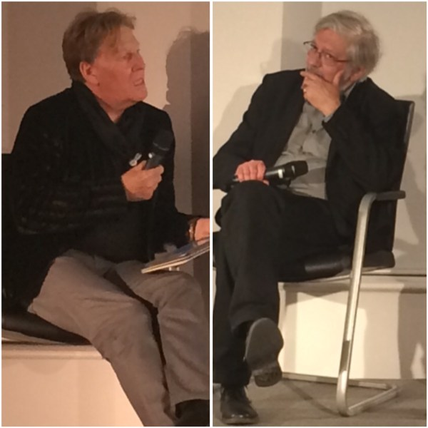 Pat Mills and Jacques Tardi at Foyles Bookshop in November 2014. Photo: Antony Esmond