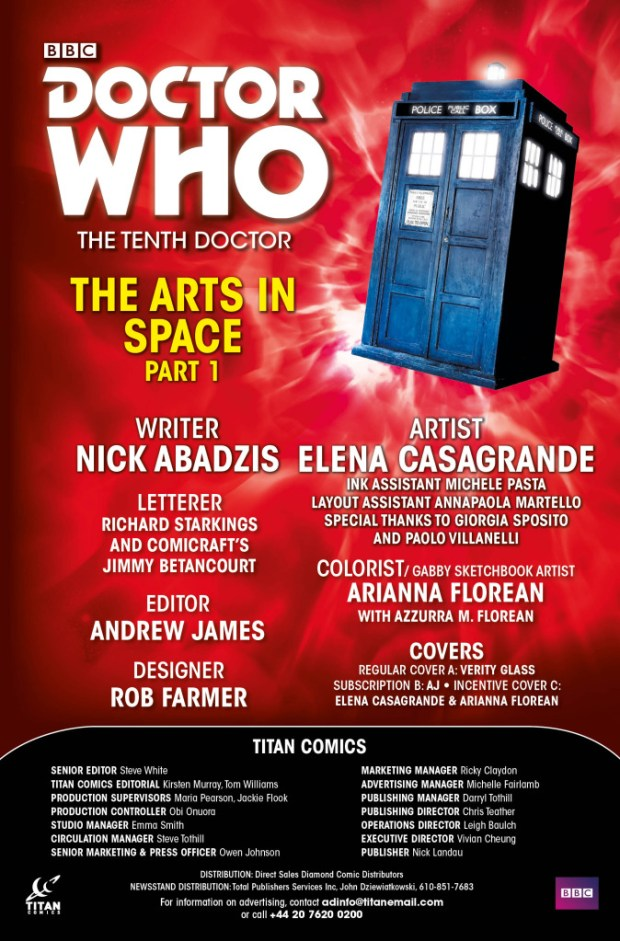 The Tenth Doctor #4 credits
