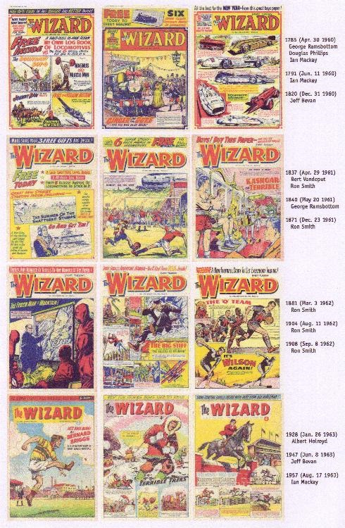 Wizard covers from the early 1960's