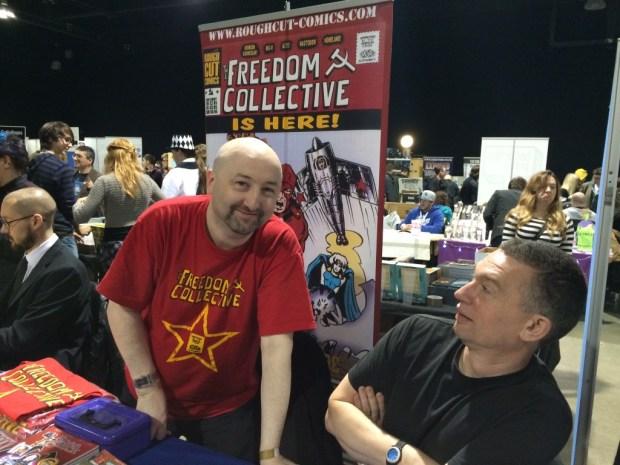 Jim Alexander and Ed Murphy from Rough Cut Comics. Photo: Antony Esmond