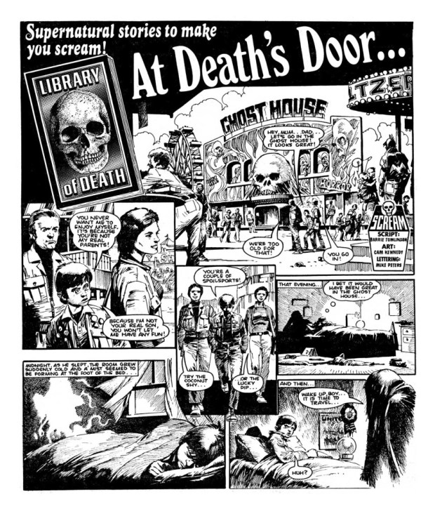 """At Death's Door"", drawn by Cam Kennedy"