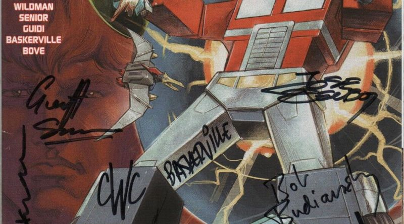TRANSFORMERS 100 VERY LIMITED MULTI SIGNED ISSUE 1/30 - BILL MANTLO