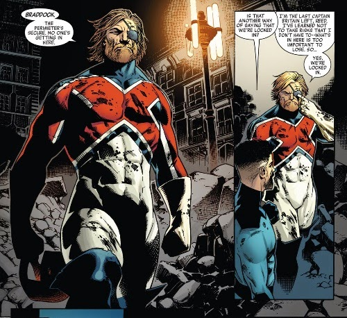 Captain Britain as he appeared in New Avengers #25. Image © Marvel