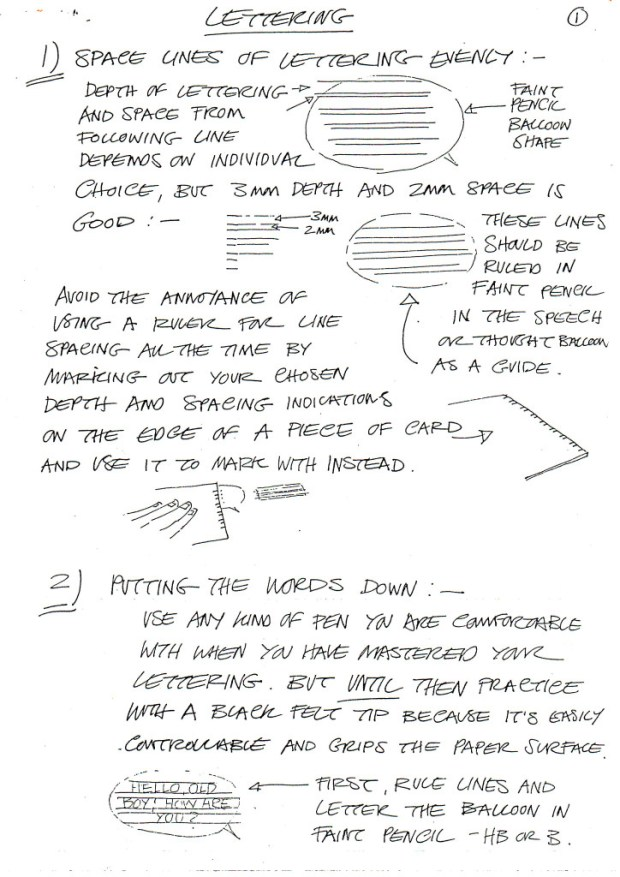 David Lloyd's Lettering Guide Page 1