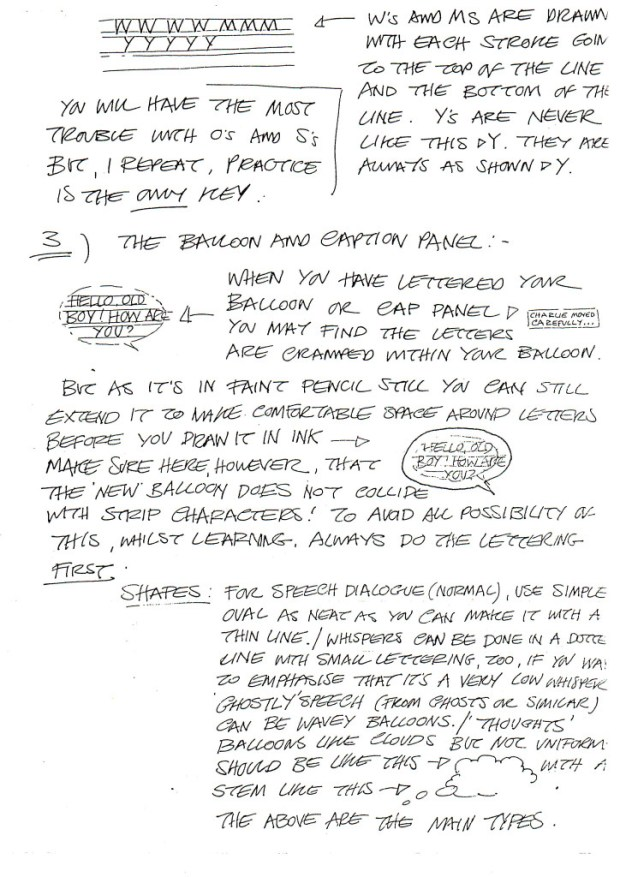 David Lloyd's Lettering Guide Page 3