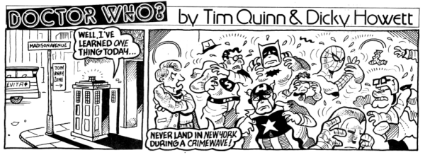 An early Doctor Who? strip from Doctor Who Magazine. © Tim Quinn and Dicky Howett