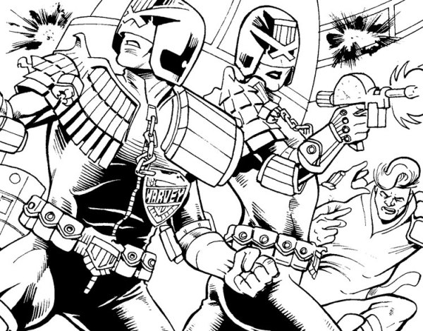 Tales Of Mega-City One:Partners by writer Alexi Conman and artist Roland Bird