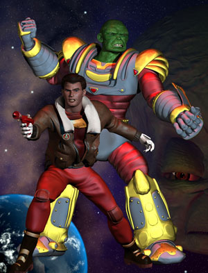 A promotional image for the animated Dan Dare. Image © Dan Dare Corporation