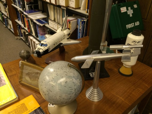 Some of the British Interplanetary Society's huge collection of space exploration ephemera.