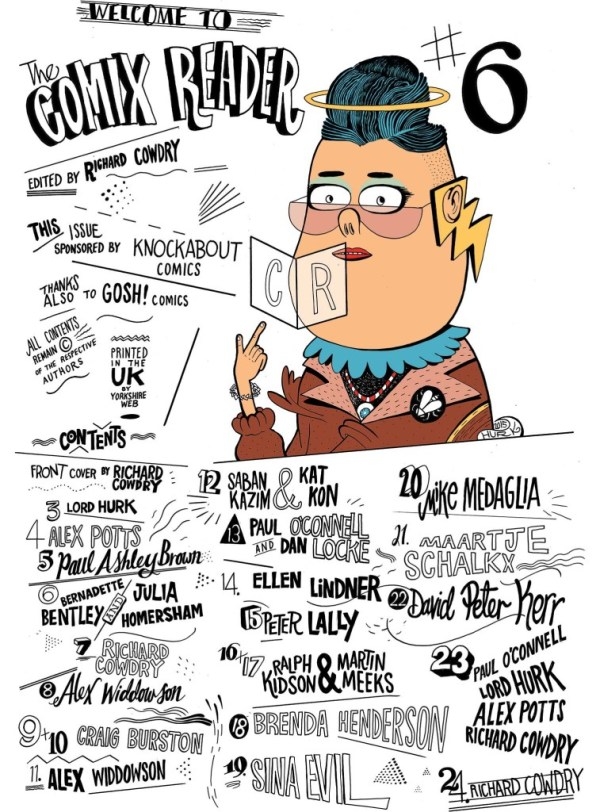 Comix Reader 6 Contents Page by Lord Hurk