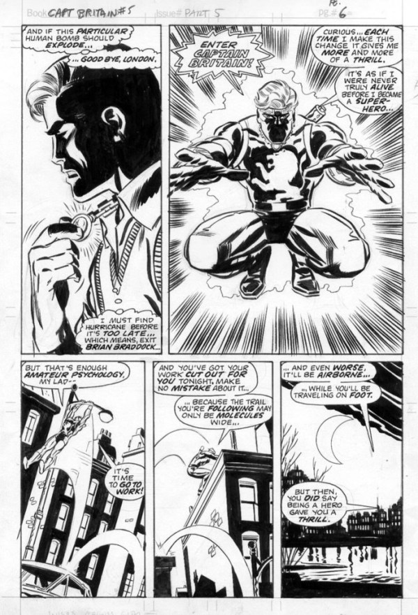 Captain Britain Art - Captain Britain Weekly Issue 5