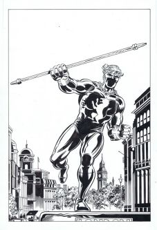 Captain Britain Volume 1 - Art by Herb Trimpe, inks by David Roach