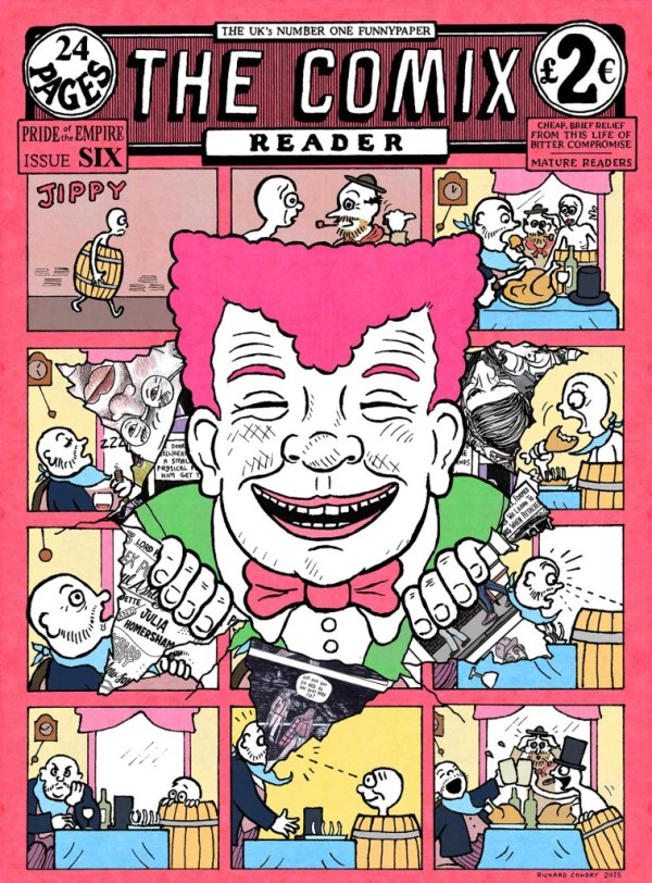 Comix Reader 6 Cover by Richard Cowdry