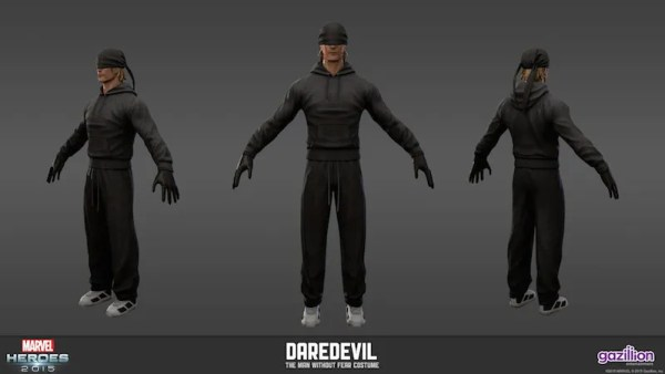 Marvel Heroes: Daredevil: Man Without Fear - Model Sheet