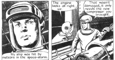 "Panels from ""Sammy in Space"" (from Swift, cover dated 7th February 1959)"