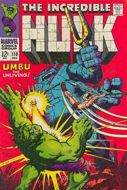 The Incredible Hulk #110, cover by Herb Trimpe