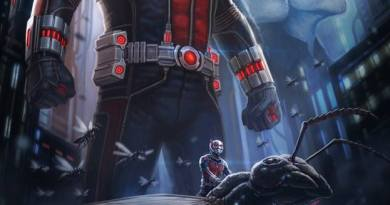 "A concept poster art for Marvel's ""Ant-Man"" by Andy Park."