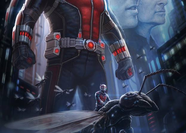 """A concept poster art for Marvel's """"Ant-Man"""" by Andy Park."""