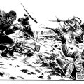 "A scene from the Russian Civil War from ""Charley's War"". Story by Pat Mills, art by Joe Colquhoun"