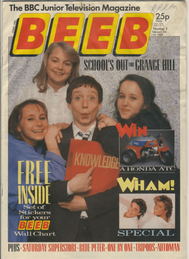 Grange Hill featured on several covers of the Beeb, a BBC-focused title from TV Comic publishers Polystyle, intended to rival Look-In - but which lasted just 20 issues.