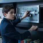 """David Mazouz as the young Bruce Wayne in the Gotham episode """"The Anvil or the Hammer"""""""