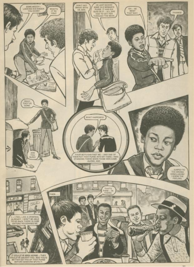 Grange Hill Magazine Issue 1 - Strip Sample 2