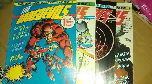 Daredevils comic, published by Marvel UK