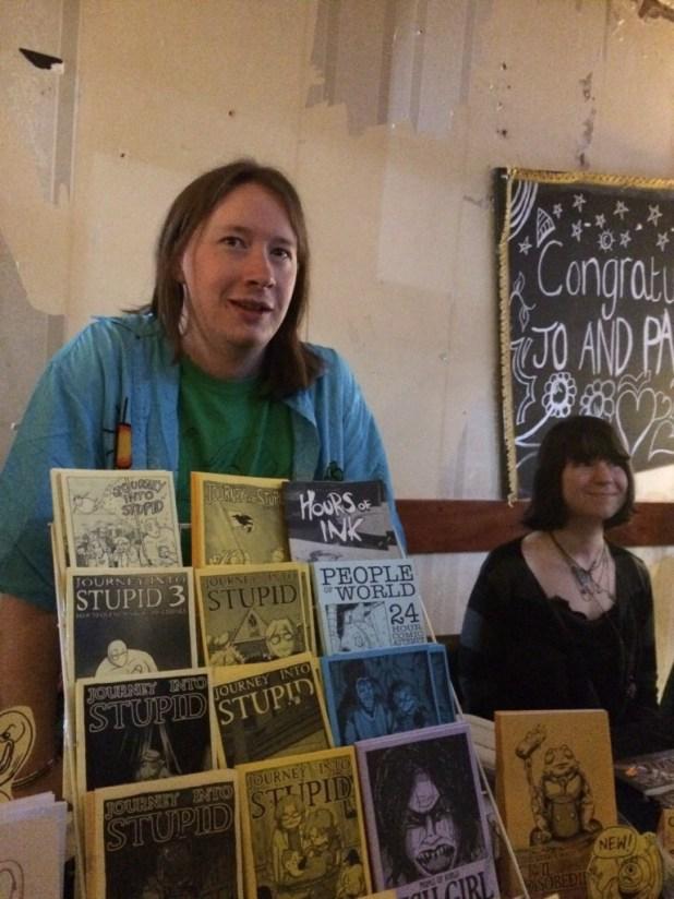 Claude T.C. at Crouch End Comic Arts Festival 2015. Photo: Antony Esmond
