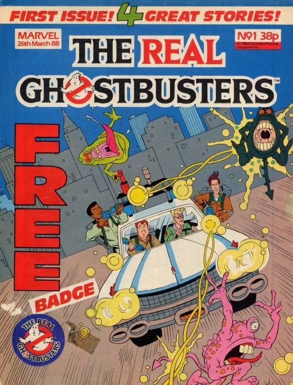 Marvel UK's The Real Ghostbusters Issue 1 - Cover