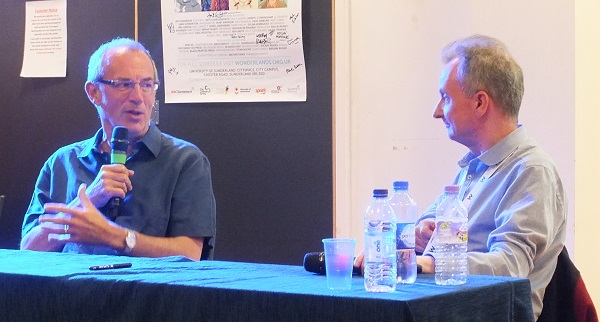 Dave Gibbons talks about his career with John McShane. Photo: Jeremy Briggs