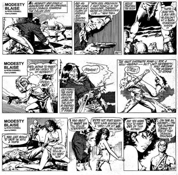 "The missing ""Guido the Jinx"" strips from The Killing Distance collection. Modesty Blaise © 2015 Associated Newspapers/Solo Syndication"