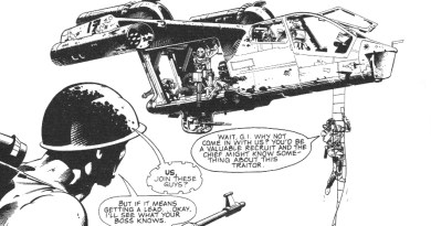 A panel from Rogue Trooper, drawn by Colin Wilson