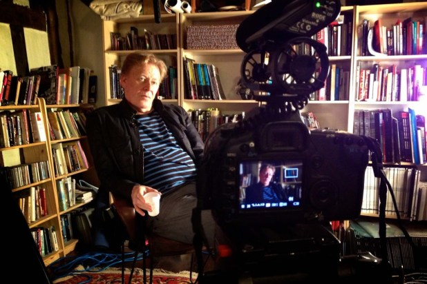 Pat Mills being interviewed for the Future Shock documentary. Image courtesy © Stanton Media
