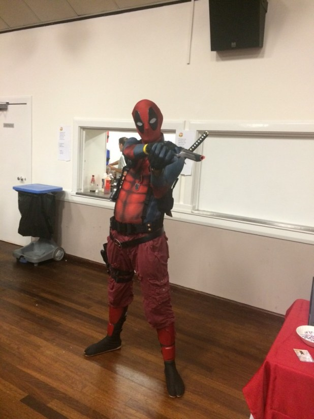 Deadpool drops in on Melksham. Photo: Tony Esmond