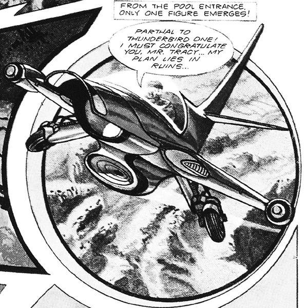 Thunderbirds Art by Frank Bellamy, utilised for the Lou Dalton Thunderbirds range