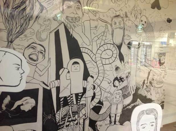 Artist Kemi Sobue's work for the 2014 Windows on Comic Art Trail in Kendal's Westmorland Shopping Centre. Photo: Sandra Wood