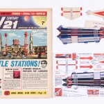 TV Century 21 Number 3, published in 1965, with a near complete free gift - a cut-out and build Fireball XL5.