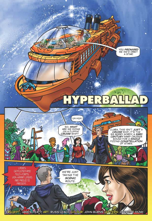 """Doctor Who Adventures #6 - """"hyperballad"""" strip page"""