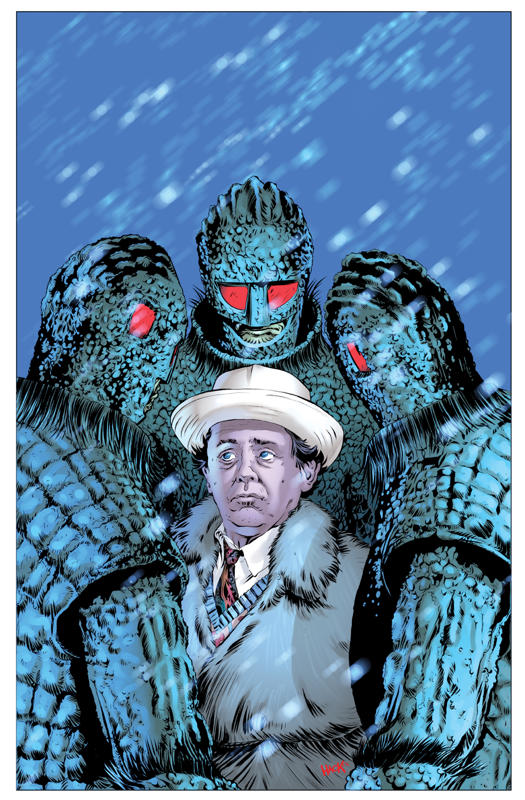 Cover art by Robert Hack for IDW's Doctor Who Classics: The Seventh Doctor Adventures #2. Colour by Charlie Kirchoff.