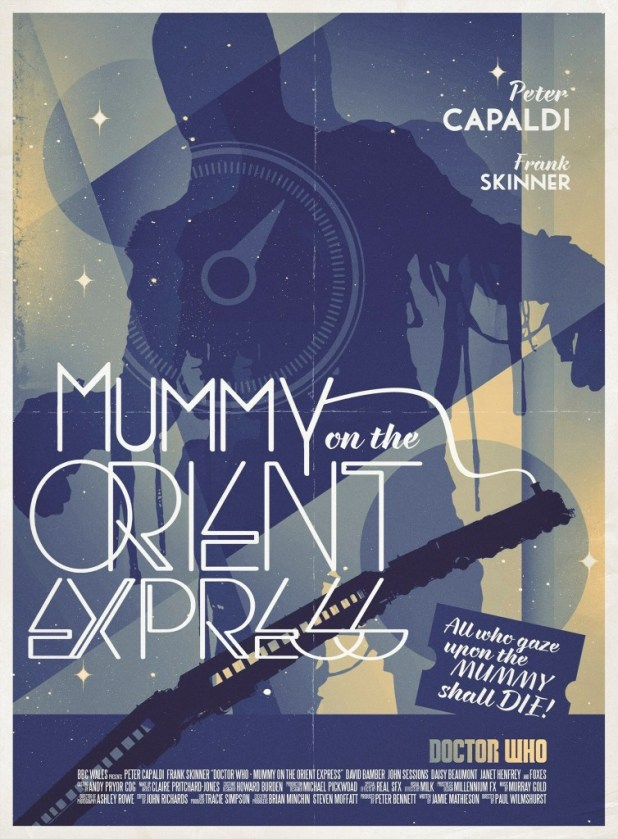 Doctor Who: Mummy on the Orient Express Poster by Stuart Manning