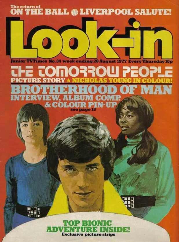 The original Tomorrow People on the cover of a 1977 issue of Look-In