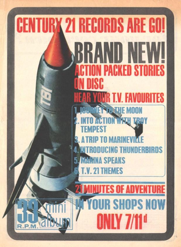 TV Century 21 Issue 41 - Century 21 Records Ad
