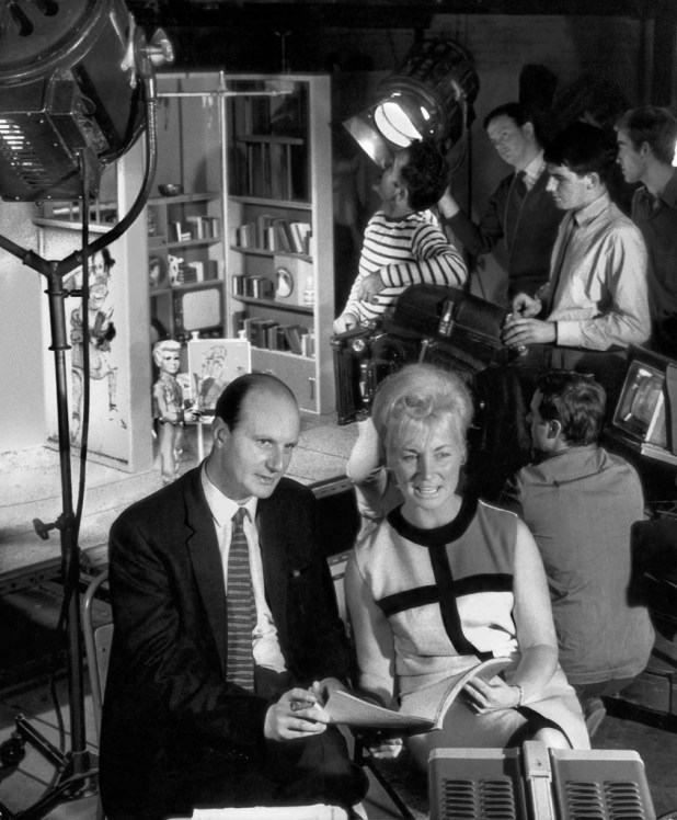 Gerry and Sylvia Anderson on the set of Thunderbirds. Marucs Hearn and designer Mike Jones have uncovered some extraordinary images for this book, many never seen before, from ITV's photo archives.