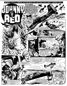Johnny Red - Art by Joe Colquhoun