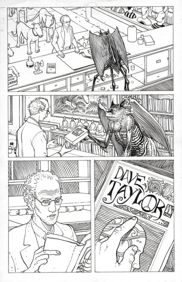 A page from an Arzak strip Dave Taylor worked on with Mœbius in 1996.