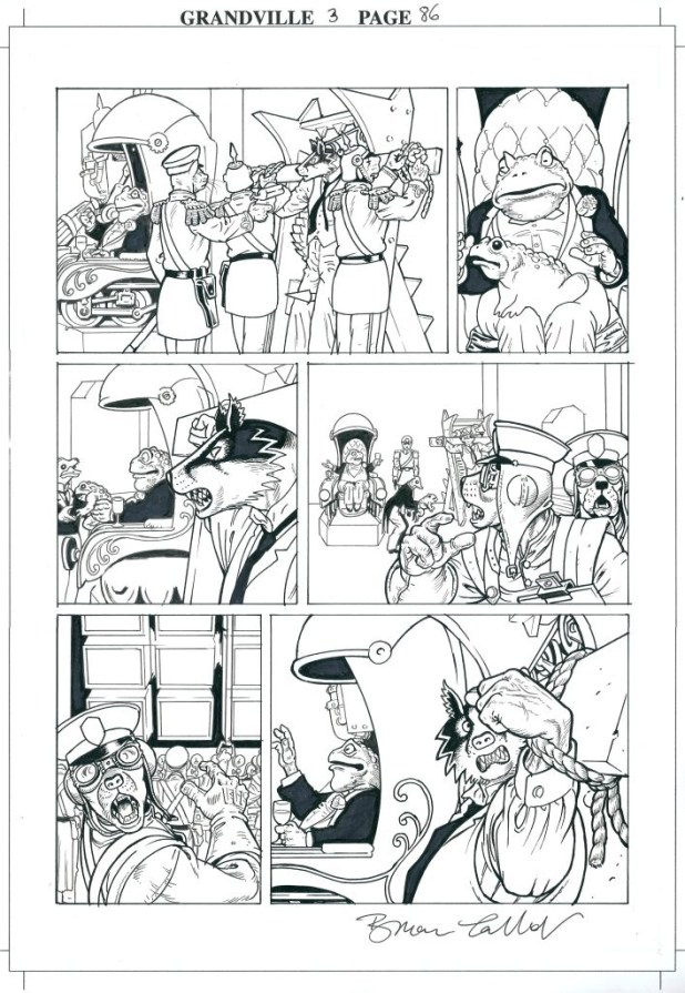 A page from Bryan Talbot's Grandville Mon Amour.